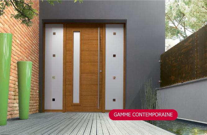 porte extérieur en gamme contemporaine