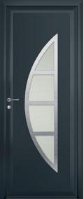 Porte contemporaine storm aluminium