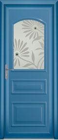 Porte traditionnel Tolerme bleu aluminium