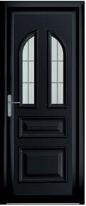 Porte traditionnel colbert noir aluminium