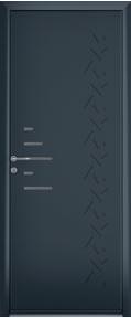 porte contemporain bleu foncé aluminium