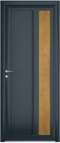 porte contemporaine glory aluminium