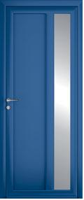 porte contemporain norm bleu aluminium
