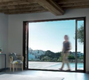 baie vitrée ouverte
