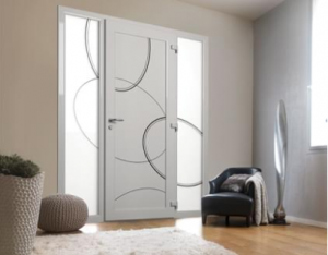 Porte PVC contemporain décor
