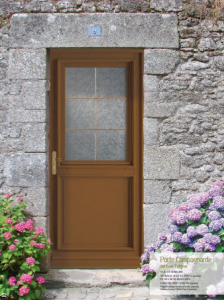 Porte bois décor traditionnelle