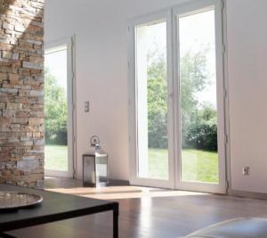 baie vitrée PVC décor