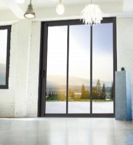 baie vitrée aluminium décor