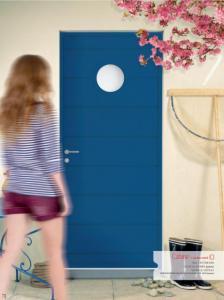porte bleu décor