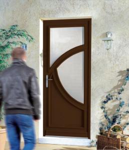 porte bois foncé décor